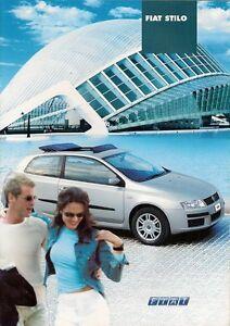 Fiat Stilo 3 Dr Amp 5 Dr 2003 04 German Market Brochure