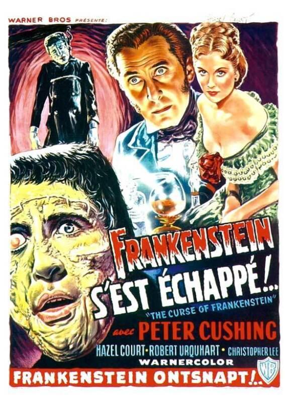 THE CURSE OF FRANKENSTEIN Movie POSTER 27x40 Belgian