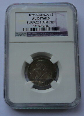 SOUTH AFRICA COIN 1 SHILLING 1896 NGC AU DETAILS