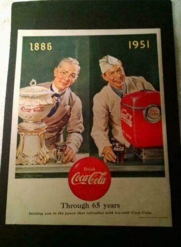 COCA-COLA PRINT AD 1951 - 10X13 - 65TH ANNIVERSARY