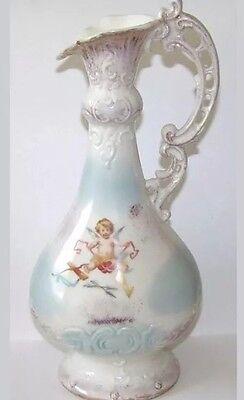 Antique Victoria Austria Carlsbad EWER Cherubs PITCHER 1891-1918