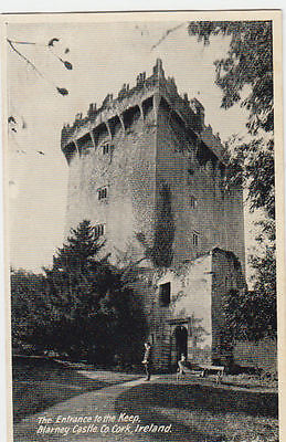 VINTAGE POSTCARD ENTRANCE TO THE KEEP BLARNEY CASTLE Co CORK IRELAND UNPOSTED.