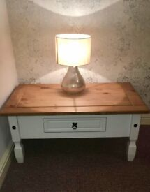 Corona white coffee table and matching tv unit