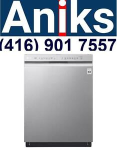 """LG   LDF5545ST24"""" built-in Front Control Dishwasher with QuadWash and EasyRack Plus sale $699"""