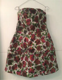 Topshop Floral Multi-Coloured Summer Holiday Dress Brand New Rrp £65