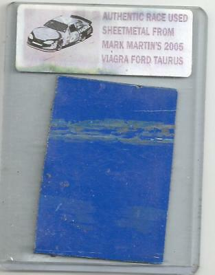 MARK MARTIN NASCAR RACE USED SHEET METAL PIECE 2005 VIAGRA CAR MM 151