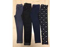 Girls leggings/ jeggings bundle age 6-7