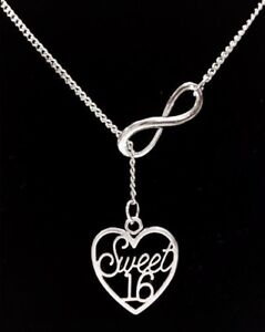 7ff5776bae9 Sweet 16 Sixteen Necklace Heart Daughter Birthday Gift Lariat Jewelry