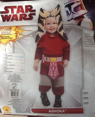 Star Wars Padawan Baby Jedi Ashoka Costume Newborn 6-12 mos Infant Unisex