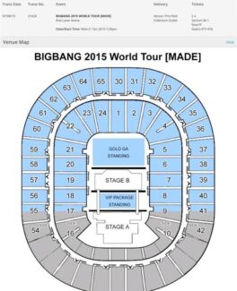 2x BIGBANG MADE Tour Tickets Melbourne Rod Laver Arena 21st Oct Bruce Belconnen Area Preview