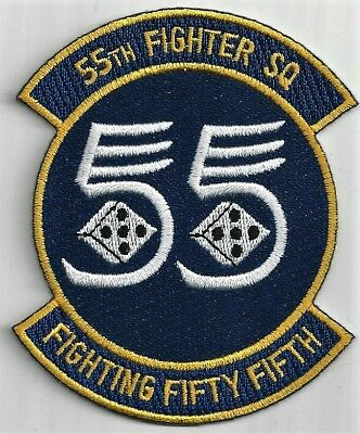 - USAF 55TH FIGHTER SQ PATCH         'FIGHTING FIFTY FIFTH'                  COLOR