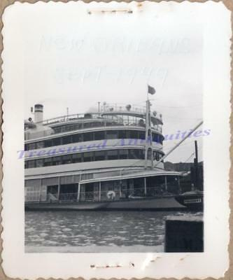 1949 New Orleans Louisiana SS President Steamboat Ferry Mississippi River Photo