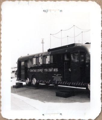 1950 Atlantic City New Jersey Police Jail On Wheels Paddy Wagon Bus Van Photo