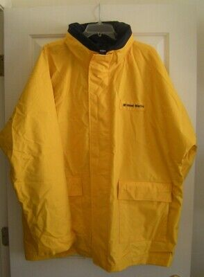 Yellow Grundens Clipper 82 Hooded Jacket-Fishing Raingear Pick Size-Free Ship