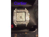 Cartier watch iced out