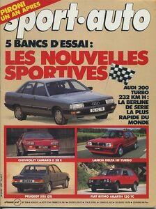 SPORT AUTO n°259 Août 1983 avec encart Audi 200 turbo Lancia Delta HF - France - État : Trs bon état : Livre qui ne semble pas neuf, ayant déj été lu, mais qui est toujours en excellent état. La couverture ne présente aucun dommage apparent. Pour les couvertures rigides, la jaquette (si applicable) est incluse. Aucune  - France
