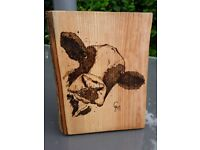 Hand Crafted Pyrography Picture/Sign