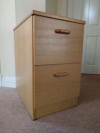 Filing cabinet - 2 draw - teak
