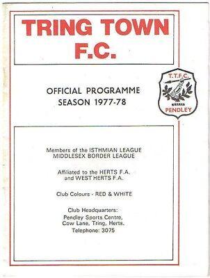 Tring Town v Lewes 1977/8