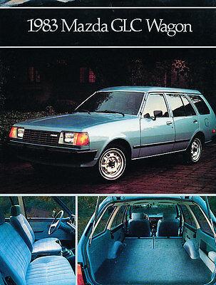 1983 Mazda GLC Wagon Dealer Sales Brochure Fact Sheet 83 Mazda Glc Wagon