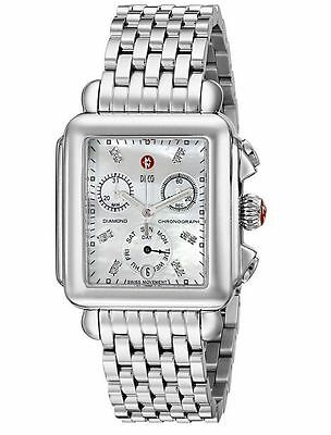 New Michele Deco Day Diamond Dial Mop Mww06p000014 Ladies Watch