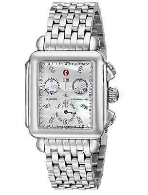 NEW Authentic Michele Deco Day Diamond Dial MOP MWW06P000014 Ladies Watch