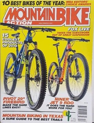 Mountain Bike Action Dec 2018 10 Best Bikes of the Year FREE SHIPPING