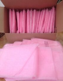 FOR SALE 100 BABY PINK Organza Chair Sashes * BRAND NEW*