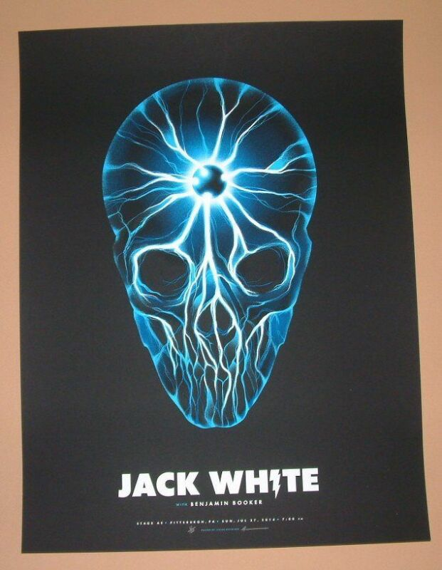 Jack White Justin Erickson Pittsburgh Poster Print Signed Numbered Art 2014