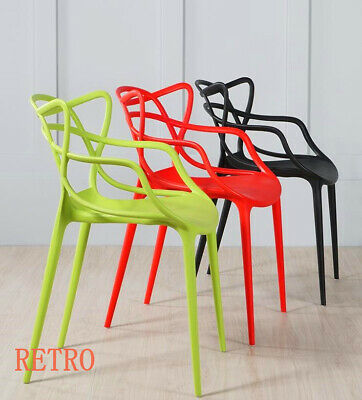 Set of 2 - Masters style Lounge Kitchen Dining Chair Retro Garden Outdoor Indoor