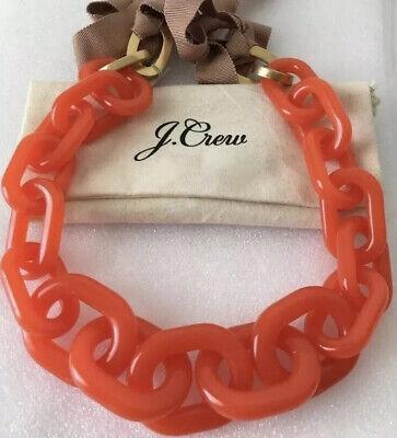 NWT J.CREW Authentic Orange LUCITE LINK (Lucite Link)