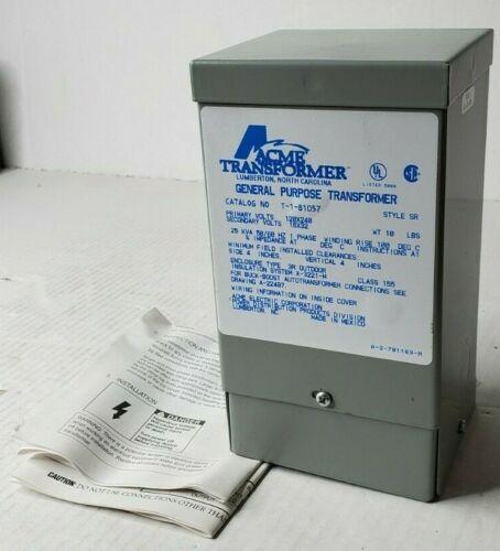 Acme T-1-81057 Transformer: Buck Boost Series 250VA 1PH ENCLOSED 120/240VAC