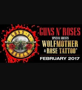 Guns N Roses Tickets x 2 - Close to Stage! Brisbane (QSAC) Robina Gold Coast South Preview