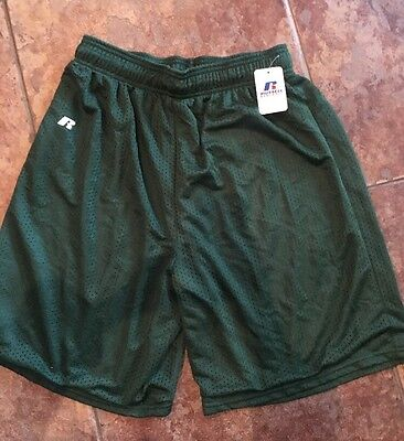 Russell Men's Green Athletic Workout Running Shorts Size Medium New