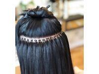 Hair model for micro ring hair extensions full head