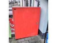 Newspaper secure locking steel cabinet