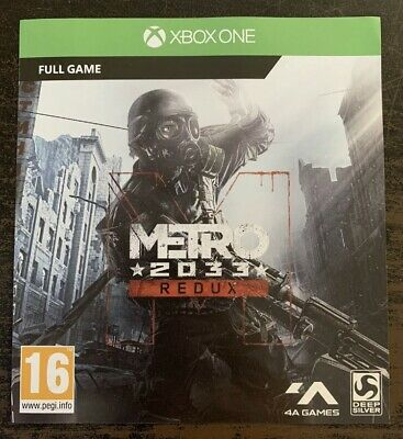 Metro 2033 Redux - Full Game Down load- Xbox One (New)