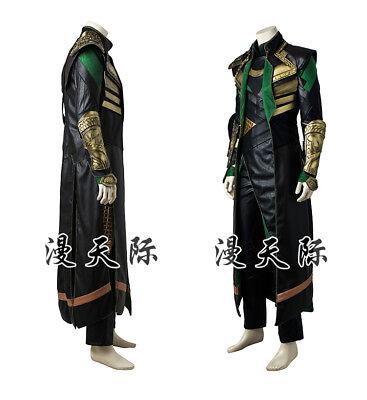 ld Loki Cosplay Kostüm Costume Full Set  (Loki Thor Kostüm)