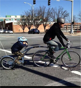 Adams ride along trailer bike
