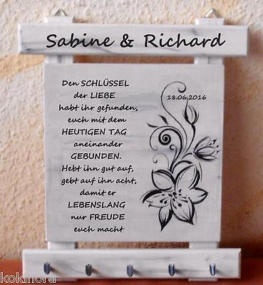 Schlüsselbrett Geschenk zur Hochzeit f. Brautpaar Hochzeitsgeschenk Geldgeschenk