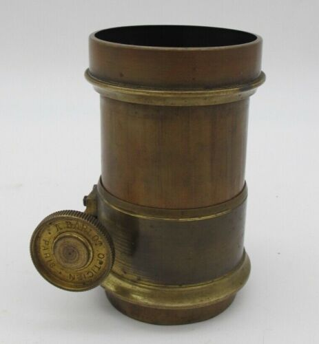 Antique A Darlot Opticien Paris France SE III Brass Magic Lantern Camera Lens