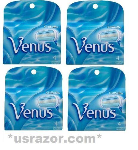 16 Gillette Venus Cartridges Blades Refills Shaver Fits E...