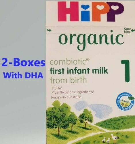 2 -BOXES-HiPP-UK-Organic-Combiotic-First-Infant-Milk-Stage-1-800g Fresh date