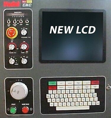 LCD monitor upgrade for 12-inch Fadal 4525 with Cable Kit for sale  Shipping to India