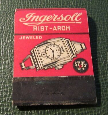 Matchbook - Ingersoll Rist Arch Watches FULL Yankee Pocket Watch