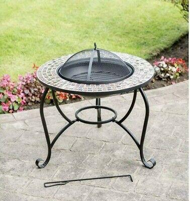 AL FRESCO MOSAIC FIRE PIT Log Burner Wood Burner Chiminea Outdoor Patio Heater