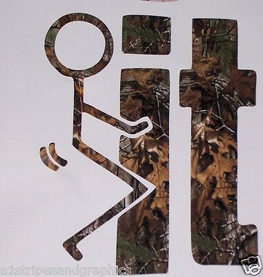 F' It Real Tree Max M4 Camo Window Decal Decals Sticker Mossy Oak Camouflage