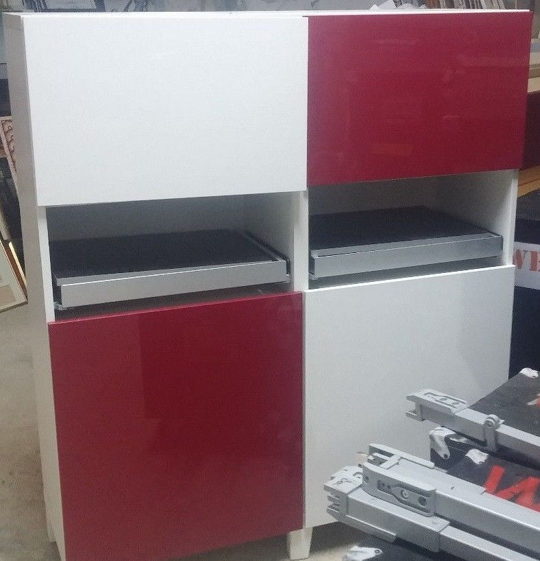 home office living room cabinet cupboard Ikea red