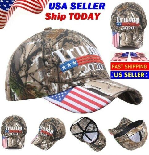 Donald Trump 2020 MAGA Embroidery Hat Keep Make America Great Again Cap USA Camo