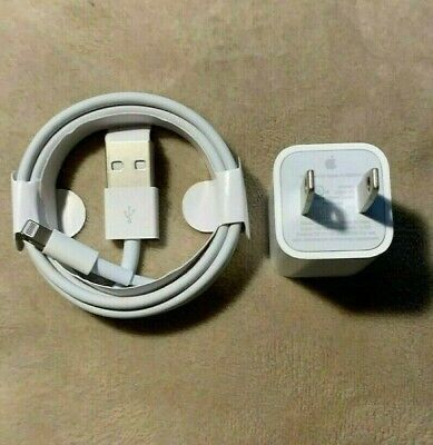 OEM Original Apple iPhone Charger Adapter & USB  Cable 7 8 Plus X XR XS Max ipad